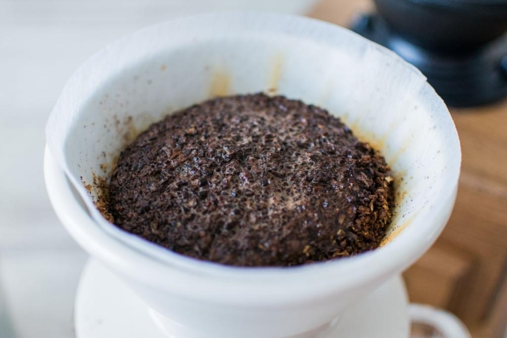 コーヒーを淹れた後のコーヒーかす