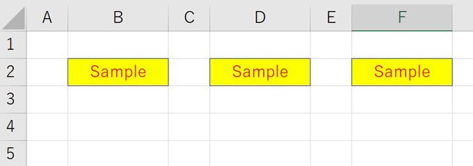 ExcelVBAColorIndexサンプル