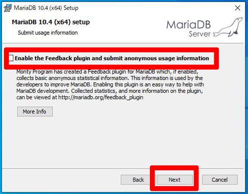 MariaDB設定インストール