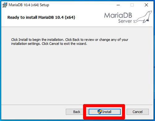MariaDBインストール開始